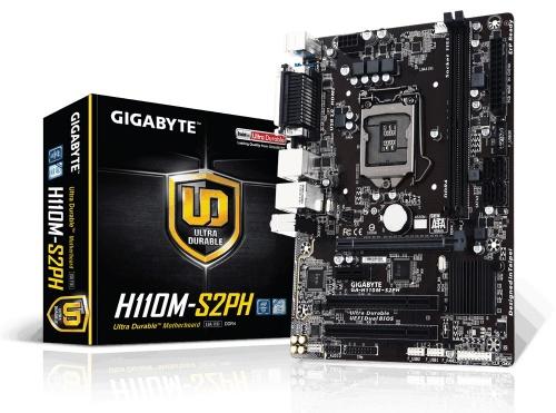 Tarjeta Madre Gigabyte micro ATX GA-H110M-S2PH, S-1151, Intel H110, HDMI, 32GB DDR4, para Intel
