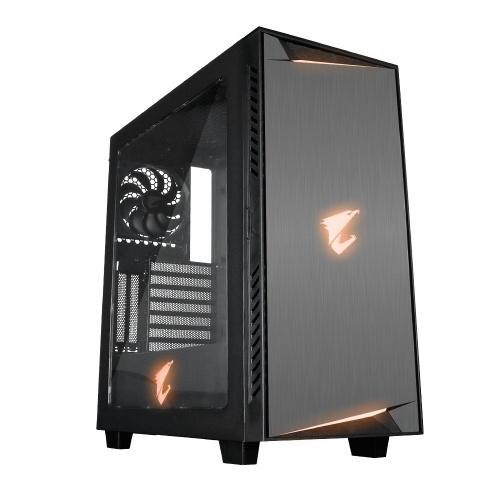 Gabinete AORUS AC300W con Ventana LED RGB, Midi-Tower, ATX/Micro-ATX/Mini-ATX, USB 3.0, sin Fuente, Negro