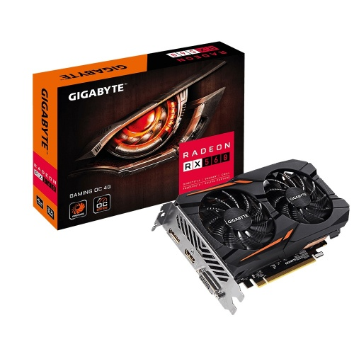Tarjeta de Video Gigabyte AMD Radeon RX 560 Gaming OC, 4GB 128-bit GDDR5, PCI Express 3.0