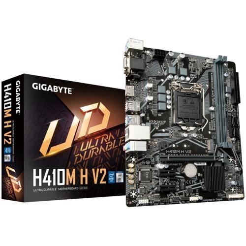 Tarjeta Madre Gigabyte Micro ATX H410M H V2 (rev. 1.0), S-1200, Intel H470, HDMI, 64GB DDR4 para Intel ― No es Compatible Procesadores Intel 11va. Generación