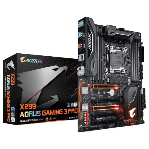 Tarjeta Madre AORUS ATX X299 Gaming 3 Pro, S-2066, Intel X299, 128GB DDR4 para Intel