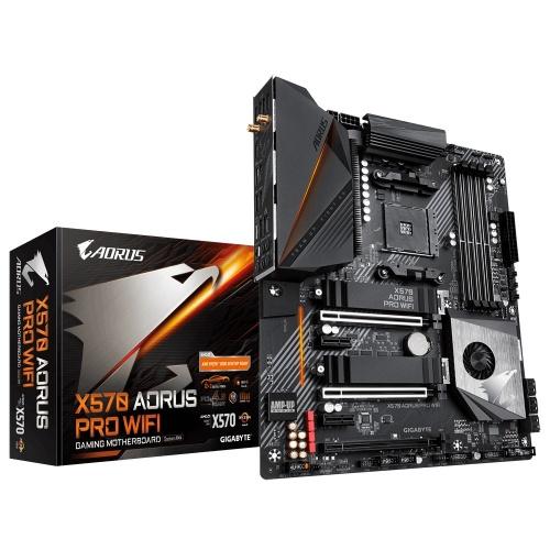 Tarjeta Madre AORUS ATX X570 AORUS PRO WIFI, S-AM4, AMD X570, HDMI, 128GB DDR4 para AMD Ryzen