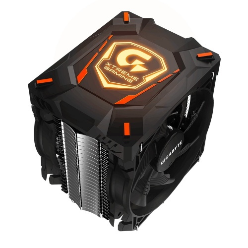 Disipador CPU Gigabyte XTC700 LED RGB, 120mm, 500-1700RPM, Negro