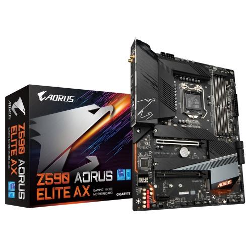 Tarjeta Madre Gigabyte ATX Z590 Aorus Elite AX, S-1200, Intel Z590 Express, 128GB DDR4 para Intel