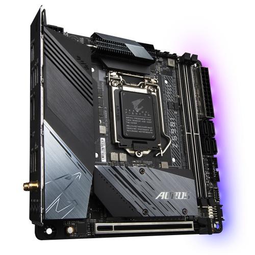 Tarjeta Madre Gigabyte Mini ITX Z590I Aorus Ultra, S-1200, Intel Z590 Express, HDMI, 64GB DDR4 para Intel