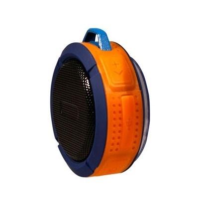 Ginga Bocina Portátil GI16BOC02BT-AN, Bluetooth, Inalámbrico, Micro-USB, Azul/Naranja - Resistente al Agua