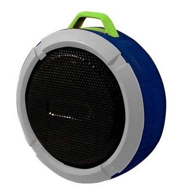 Ginga Bocina Portátil GI16BOC02BT-GV, Bluetooth, Inalámbrico, Micro-USB, Azul  - Resistente al Agua