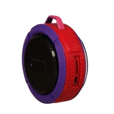 Ginga Bocina Portátil GI16BOC02BT-RM, Bluetooth, Inalámbrico, Micro-USB, Rojo  - Resistente al Agua