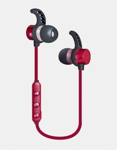 Ginga Audífonos Intrauriculares Deportivos con Micrófono GI18AUD01BT-RO, Inalámbrico, Bluetooth, Rojo
