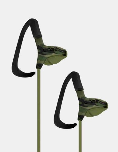 Ginga Audífonos Intrauriculares Deportivos GO17AUD01HF-CA, Alámbrico, 3.5mm, Verde