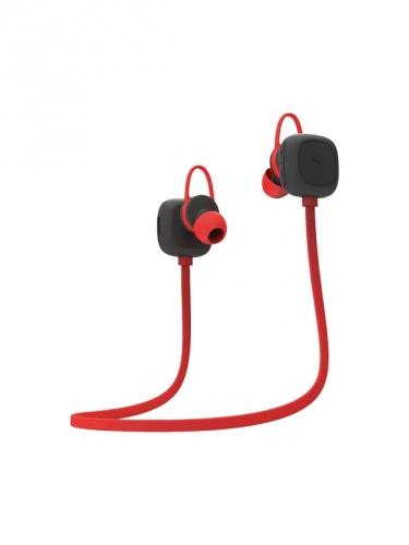 Grixx Audífonos Intrauriculares GROHIESBTBK01, Inalámbrico, Bluetooth, Rojo/Negro