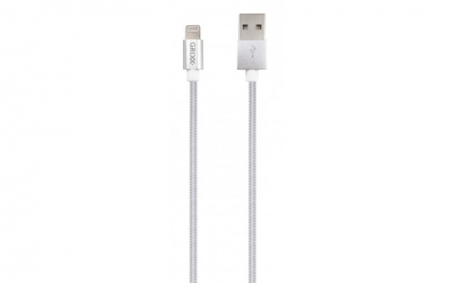 Grixx Cable USB-A Macho - Lightning Macho, 1 Metro, Blanco