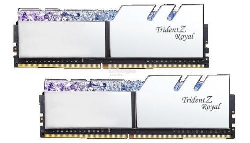 Kit Memoria RAM G.Skill Trident Z Royal DDR4, 3200MHz, 16GB (2 x 8GB), Non-ECC, CL16, 1.35V, XMP, Plata
