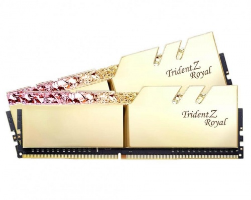 Kit Memoria RAM G.Skill Trident Z Royal Gold DDR4, 3200MHz, 32GB (2 x 16GB), Non-ECC, CL16, XMP, 1.35V