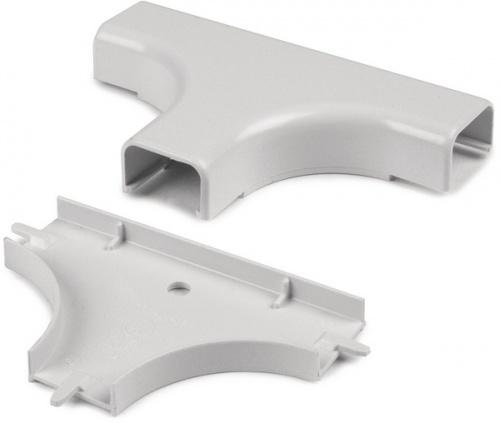Hellermann Tyton Conexión en T para Canaleta TSR3FW-21, Blanco, 10 Piezas