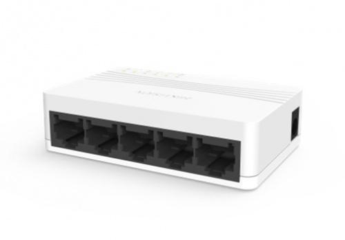Switch Hikvision Fast Ethernet DS-3E0105D-E, 5 Puertos 10/100Mbps, 1Gbit/s, 1000 Entradas - No Administrable