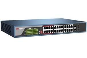 Switch Hikvision Fast Ethernet DS-3E0326P-E, 26 Puertos 10/100Mbps + 2 Puertos SFP, 8.8 Gbit/s, 4000 Entradas - No Administrable