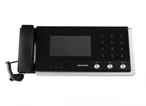 Hikvision Sistema de Intercomunicación DS-KM8301, Monitor 7'', Altavoz, Alámbrico, Negro/Blanco