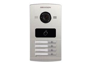 Hikvision Frente de Calle IP DS-KV8402-IM, 4 Botones, Altavoz, Aluminio