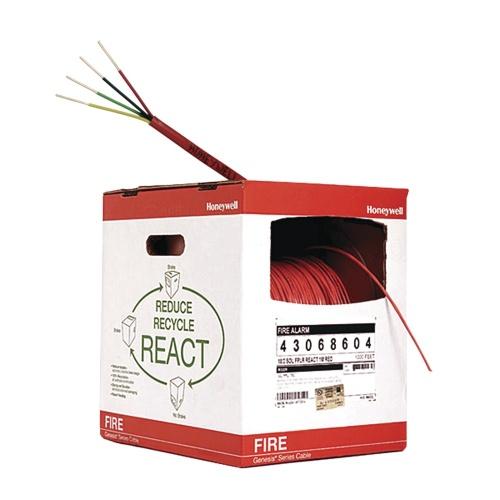 Honeywell Bobina de Cable para Alarma de Incendios REACT, 4 Conductores, 152 Metros, Rojo
