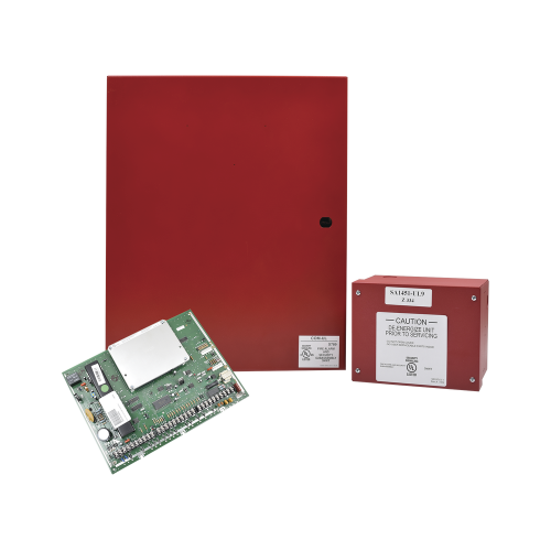 Honeywell Panel Híbrido de Incendio e Intrusión, hasta 128 Zonas, 18V, Rojo