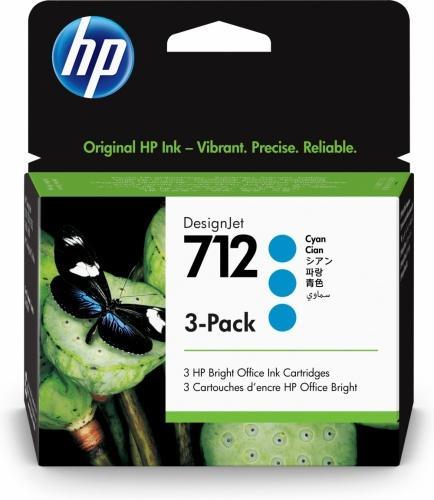 Cartucho HP DesignJet 712 Cyan Original, 29 ml - 3 Piezas