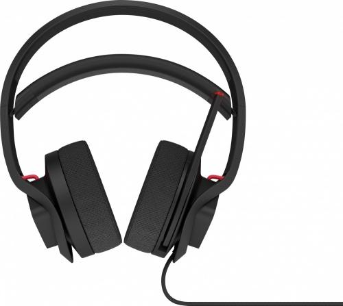 HP Audífonos Gamer Omen X Mindframe, Alámbrico, 1.9 Metros, USB, Negro/Rojo