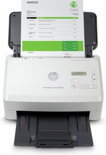 Scanner HP Scanjet Enterprise Flow 5000 s5, 600 x 600DPI, Escáner Color, Escaneado Dúplex, USB, Blanco