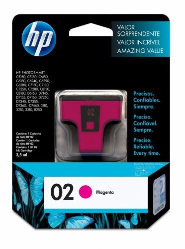 Cartucho HP 02 Magenta, 370 Páginas