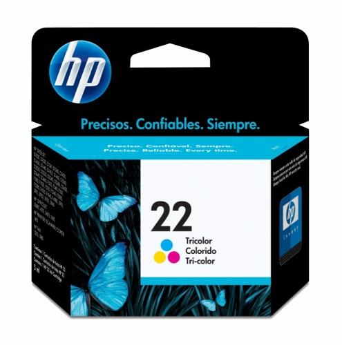 Cartucho HP 22 Tricolor, 170 Páginas