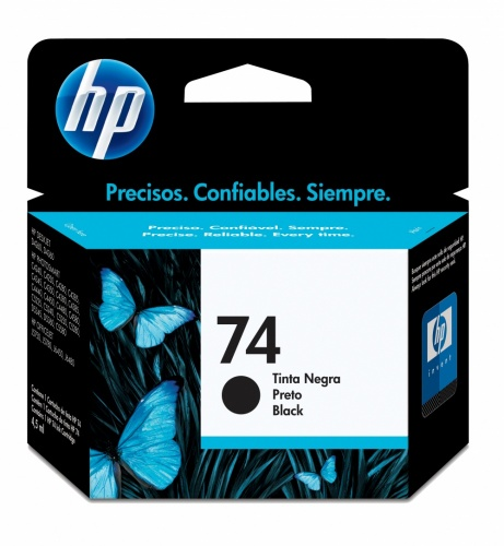 Cartucho HP 74 Negro, 200 Páginas