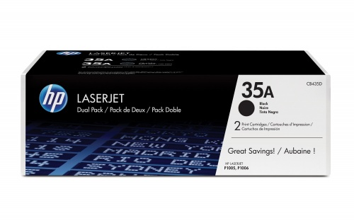Tóner HP 35A Paquete Doble Negro, 2 x 1500 Páginas