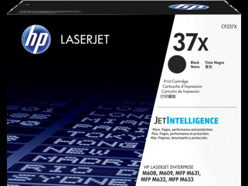 Tóner HP 37X Negro, 25.000 Páginas, para LaserJet Enterprise M608/M609