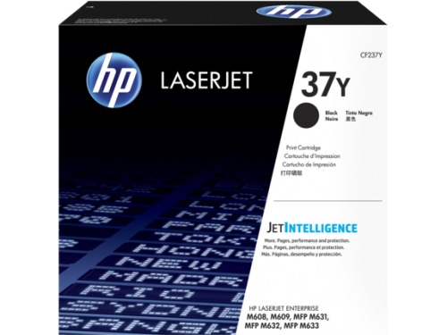 Toner HP 37Y Negro, 41.000 Páginas, para LaserJet Enterprise M608/M609
