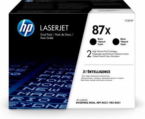 Tóner HP 87X Negro, 18.000 Páginas, 2 Piezas