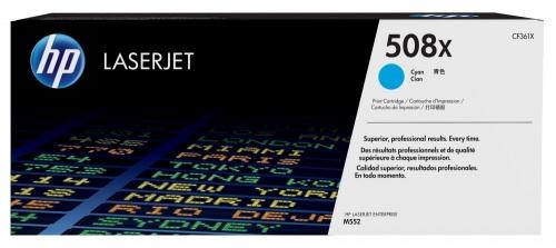 Tóner HP 508X Cyan, 9500 Páginas