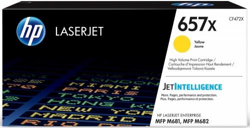Toner HP 657X Alto Rendimiento Amarillo, 23.000 páginas