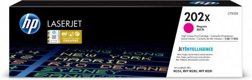Tóner HP 202X Magenta, 2500 Páginas