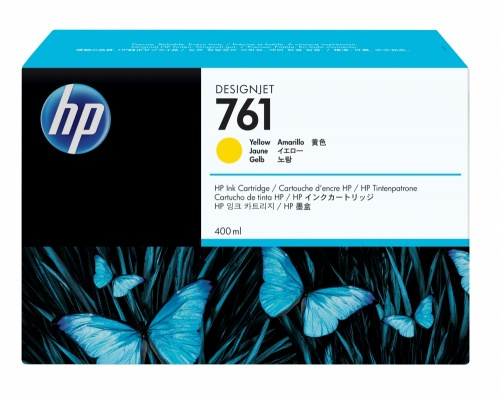 Cartucho HP 761 Amarillo 400ml
