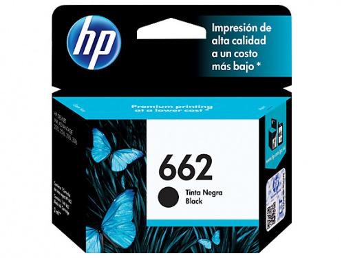 Cartucho HP 662 Negro, 120 Páginas ― ¡Compra y recibe $15 pesos de saldo para tu siguiente pedido!
