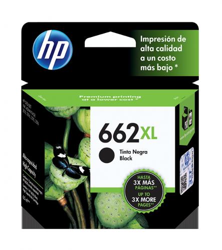 Cartucho HP 662XL Negro, 360 Páginas ― ¡Compra y recibe 6% del valor de este producto en saldo para tu siguiente pedido!