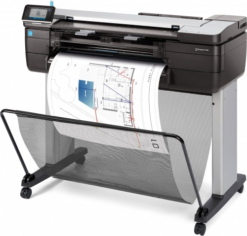 Plotter HP Designjet T830 24'', Color, Inyección, Print