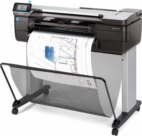 Plotter HP Designjet T830 24'', Color, Inyección, Print ― Requiere Care pack de Instalación UC744E por parte de la marca, consulta a servicio al cliente.