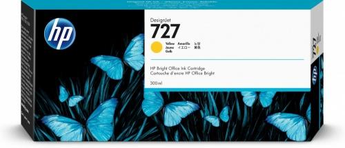Cartucho HP 727 Amarillo 300ml
