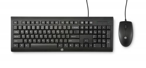 Kit de Teclado y Mouse HP C2500 Desktop, Alámbrico, USB, Negro (Español)