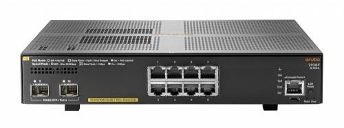 Switch HPE Gigabit Ethernet Aruba 2930F, 8 Puertos 10/100/1000Mbps + 2 Puertos SFP+, 56 Gbit/s, 32.768 Entradas - Gestionado