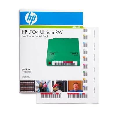 HP Paquete de Códigos de Barras HP LTO-4 Ultrium RW, 100 Etiquetas