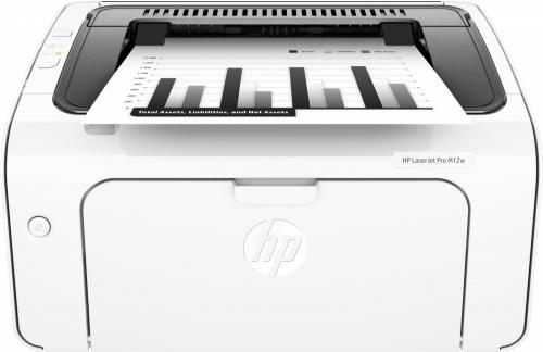 HP LaserJet Pro M12w, Blanco y Negro, Láser, Print