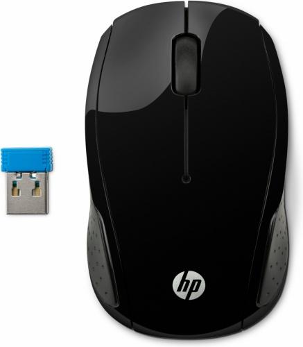 Mouse HP Óptico 200, Inalámbrico, USB, 1000DPI, Negro