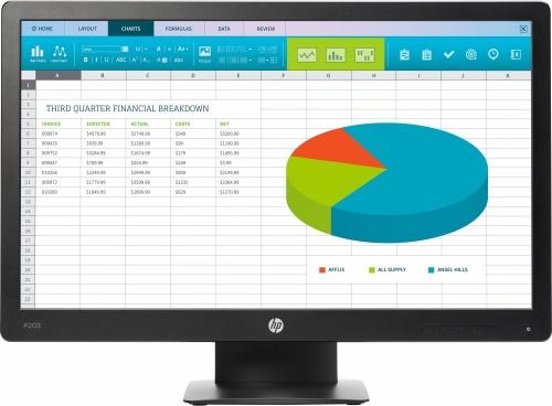 Monitor HP ProDisplay P203 LED 20'', HD+, Widescreen, Negro